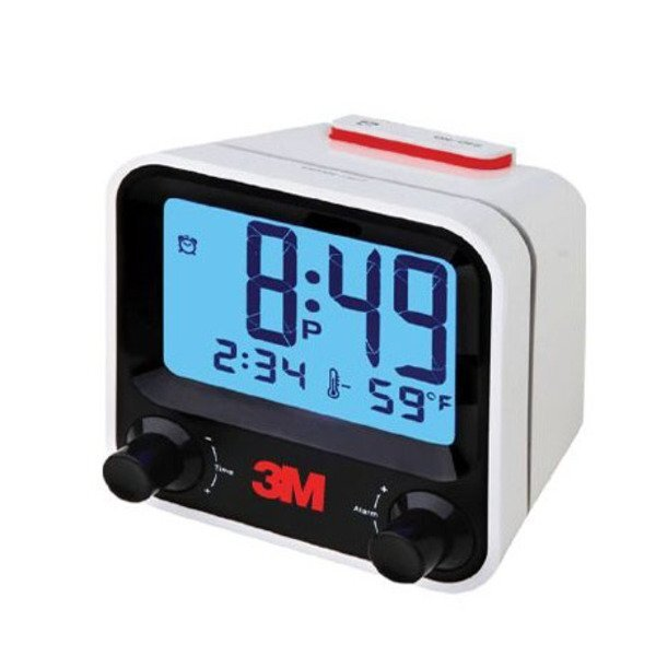 Easy Set Alarm Clock w/ Thermometer