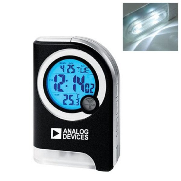 Atomic Travel Alarm Clock w/ Torch Light