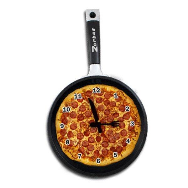 Pan Pizza Wall Clock