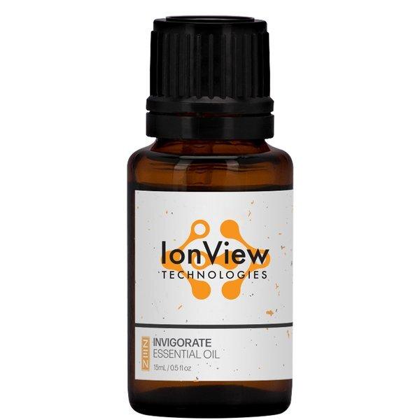 Invigorate Essential Oil Amber Dropper Bottle, 15ml., Full Color Imprint