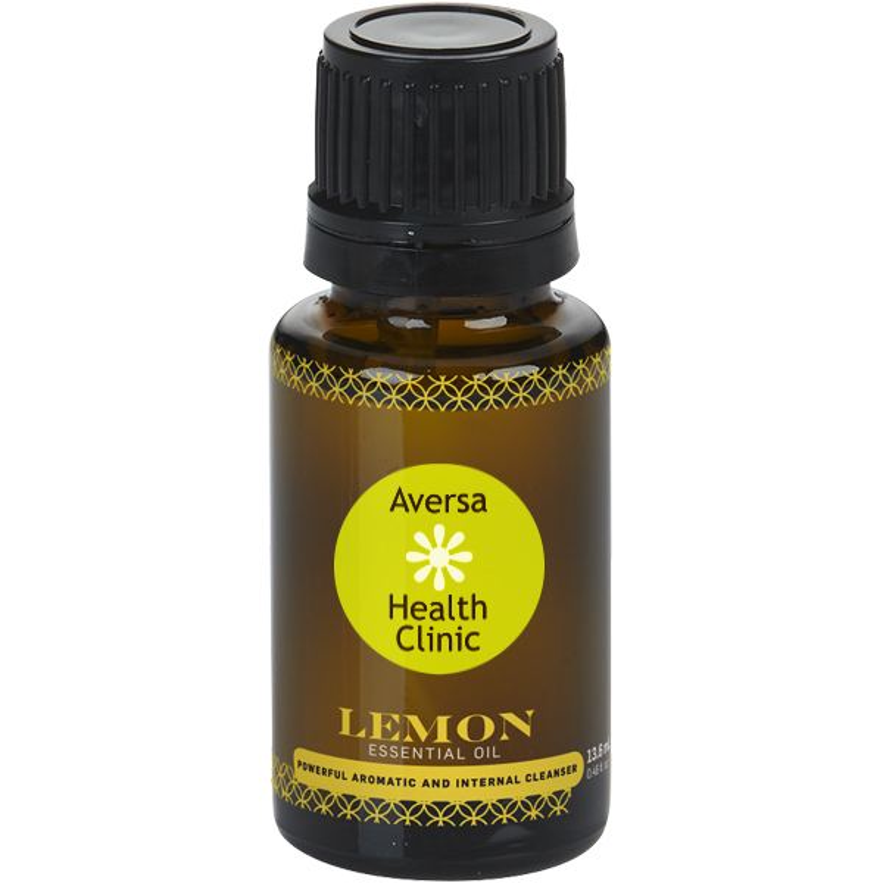 Lemon Essential Oil Amber Dropper Bottle, 15ml.