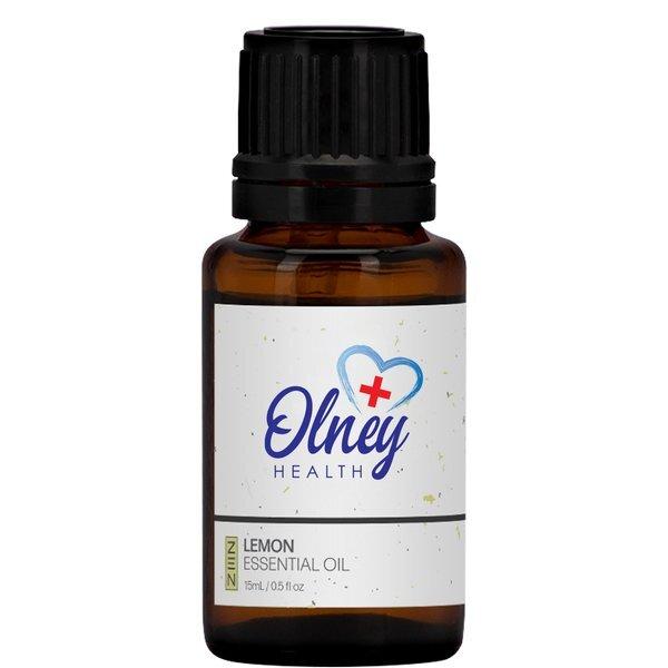 Lemon Essential Oil Amber Dropper Bottle, 15ml., Full Color Imprint