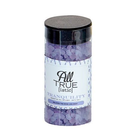 Tranquility Essential Oil Infused Bath Salts, 2.7oz., Full Color Imprint