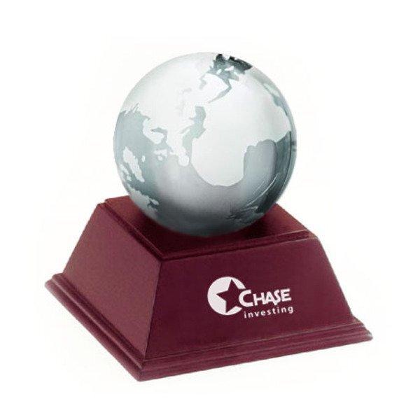 Clear Glass Globe w/ Wood Stand