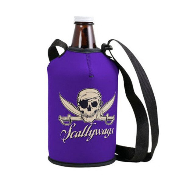 Neoprene Growler Cover with Carry Strap