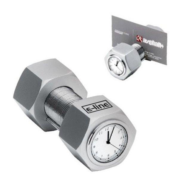 Nut & Bolt Clock w/ Card Holder
