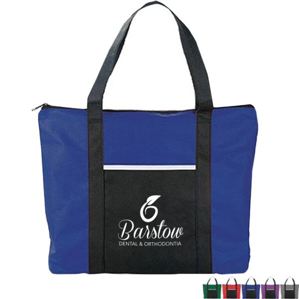 Timeline Jewel-Tone Non-Woven Business Tote