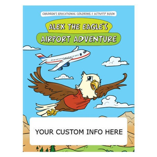 Alex the Eagle's Airport Adventure Coloring Book
