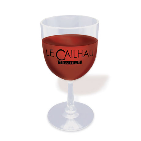 Here's-to-You Plastic Wine Glass, 6oz.
