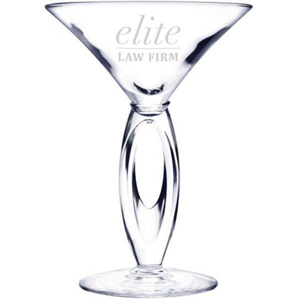 Elegance Martini Glass, Deep Etched, 6.75oz.