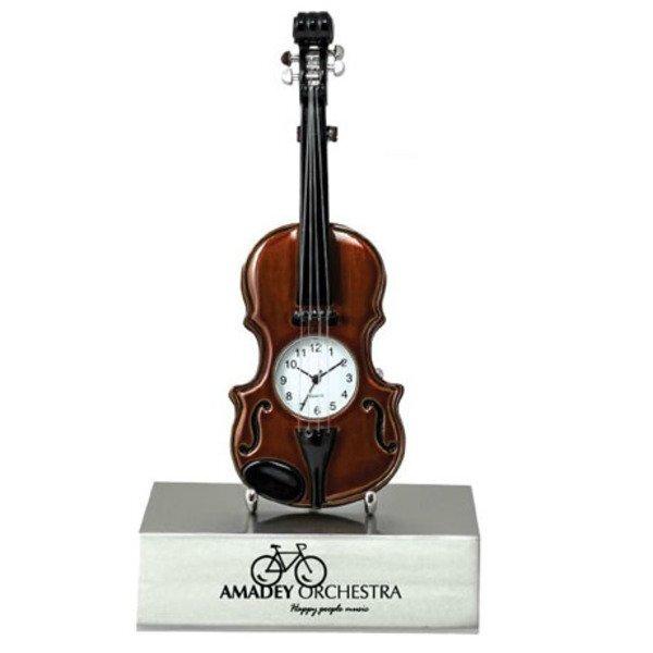 Violin Desk Clock