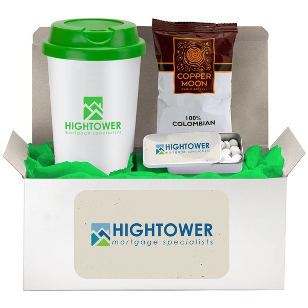 Coffee Lover's Cup, Coffee & Mints Gift Set w/ Full Color Imprint