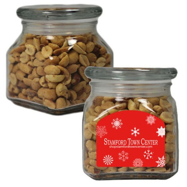Peanuts in Small Glass Apothecary Jar