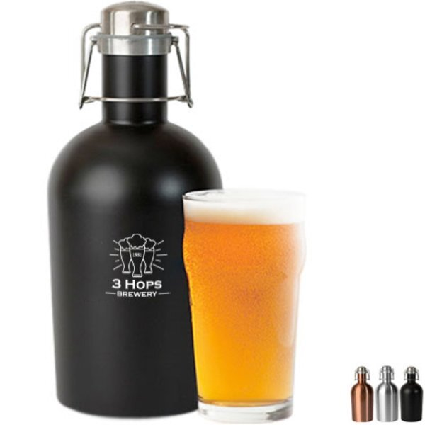 Classic Stainless Steel Growler, 64oz.