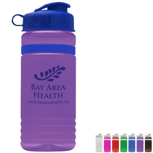 Grip Stripe Tritan™ Bottle, 20oz. - Flip Top Lid
