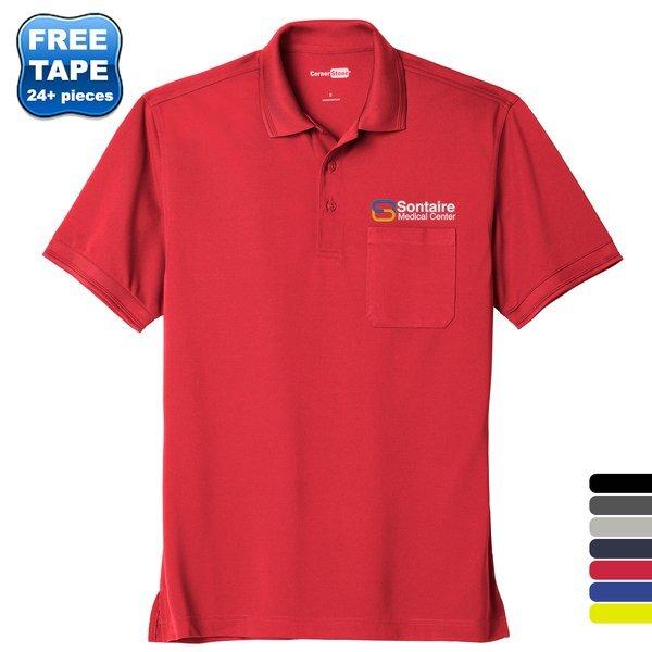 CornerStone® Industrial Pocket Pique Men's Polo