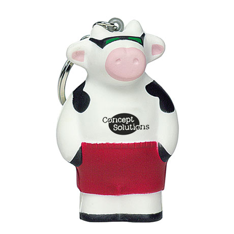 Cool Beach Cow Stress Reliever Key Ring