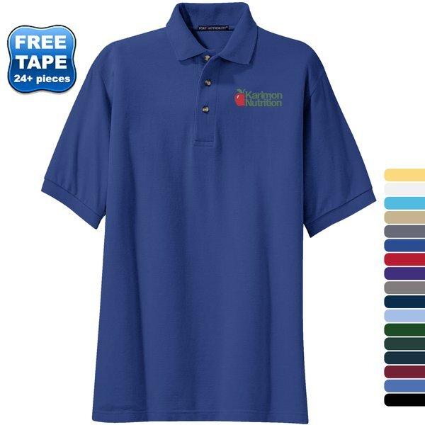 Port Authority® Cotton Pique Knit Men's Polo