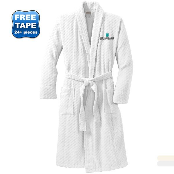 Port Authority® Checkered Terry Shawl Collar Robe