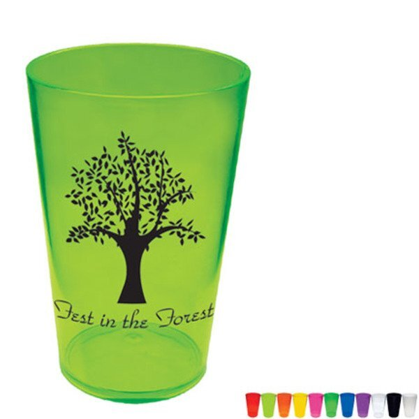 Plastic Pint Glass, 16oz.