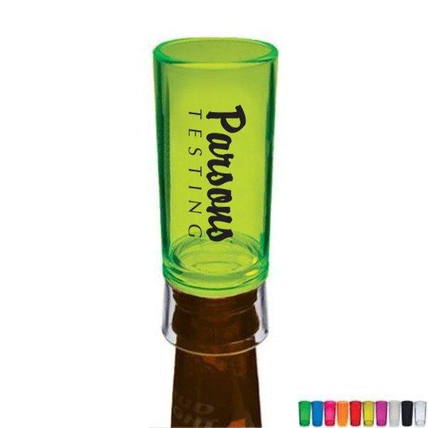 Bottle Top Plastic Shooter Glass, 1.5oz.