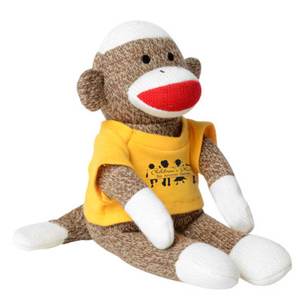 """Sock Monkey Plush, 12"""""""