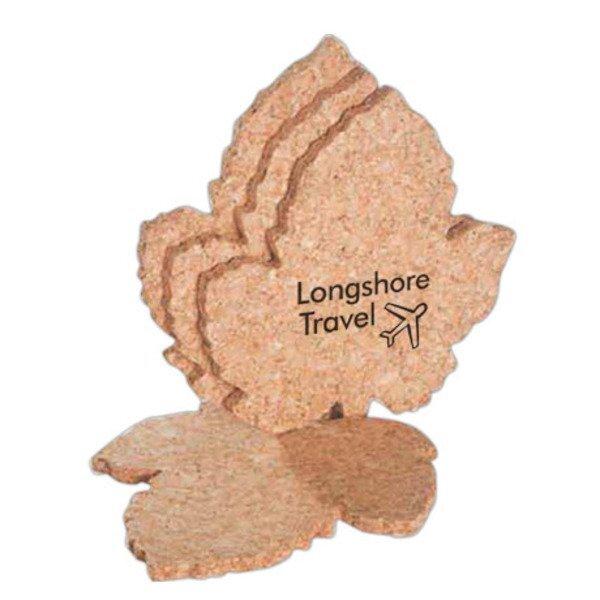 Grape Leaf Cork Coaster