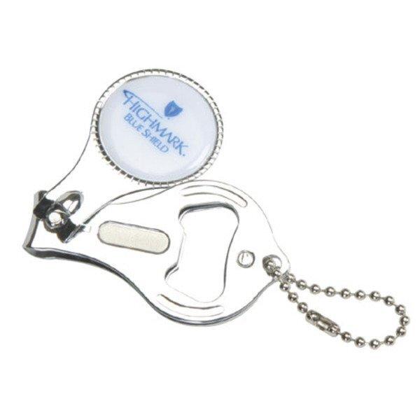 Round Nail Clipper & Bottle Opener Keychain