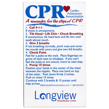 "Healthy Message Magnet™, CPR - ""A Reminder ..."