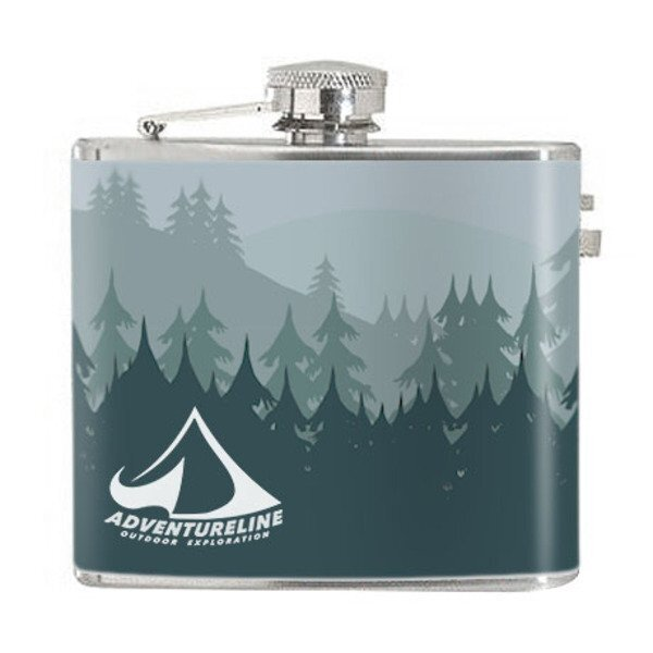 Stainless Steel Hip Flask, 5oz. w/ Full Color Imprint