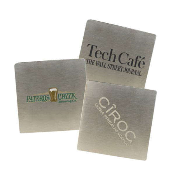Square Stainless Steel Beverage Coaster
