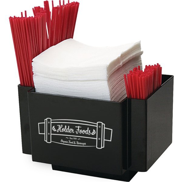 Napkin & Straw Table Caddy, 2 Compartments