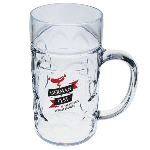 Plastic German Beer Mug, 1/2 Liter