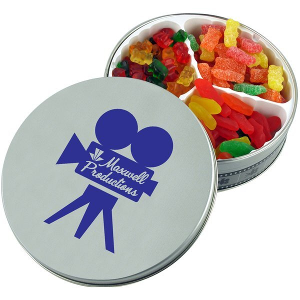 Movie Reel Tin with Gummy Bears, Swedish Fish & Sour Patch Kids
