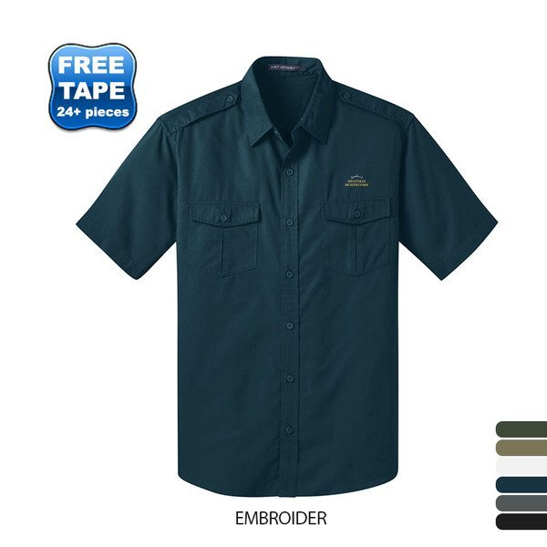 Port Authority® Stain-Resistant Twill Men's Short Sleeve Shirt