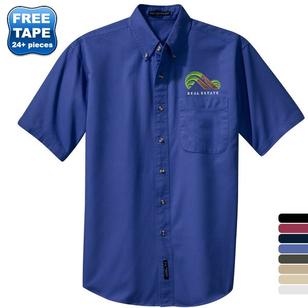 Port Authority® Cotton Twill Men's Short Sleeve Shirt