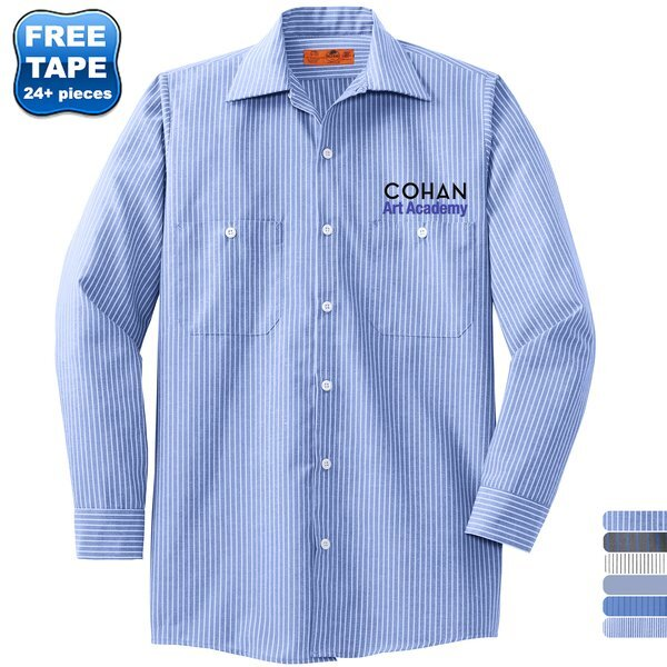 Red Kap® Striped Industrial Men's Work Shirt