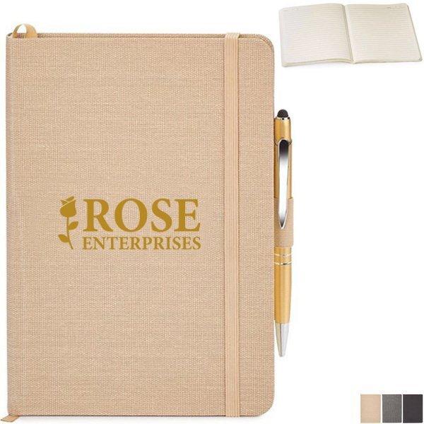 """Linen Journal & Pen Combo, 6-1/4"""" x 8-1/4"""""""