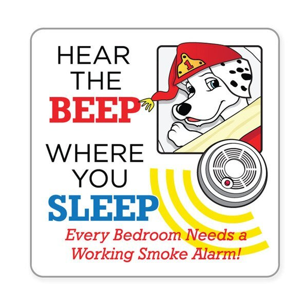 Hear the Beep Where You Sleep Sticker Roll, Stock