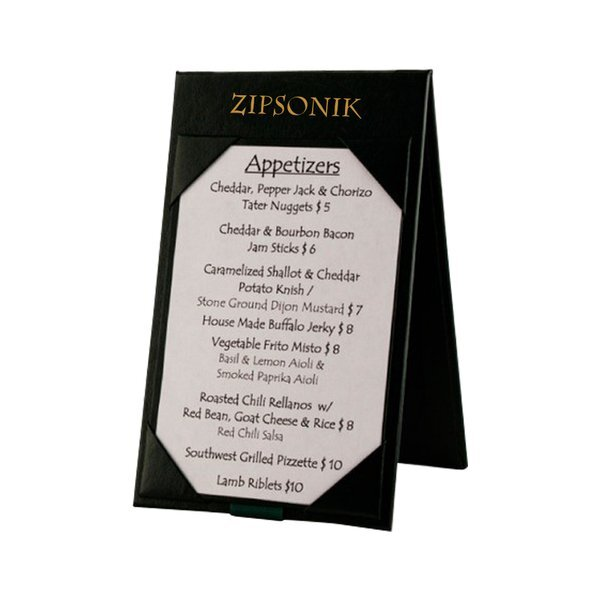 Leatherette Table Tent Menu Cover X Health Promotions Now - 4x6 table tent