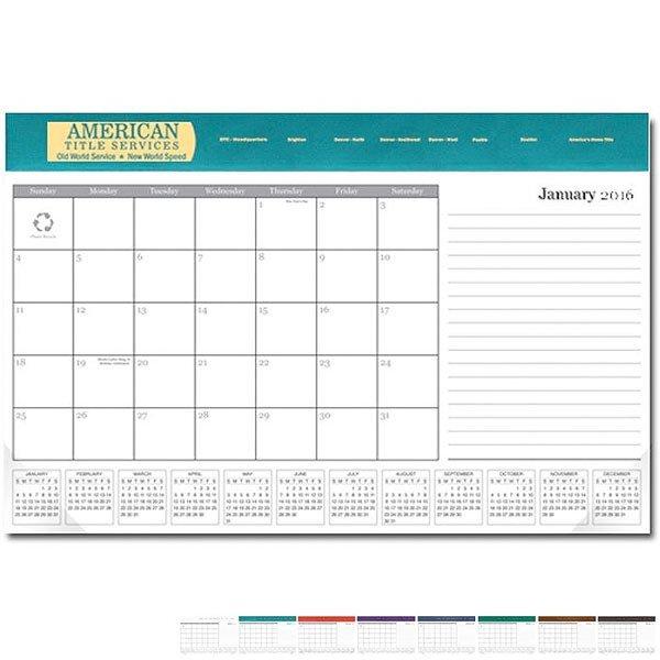 "Desk Pad Calendar, 11"" x 17"""