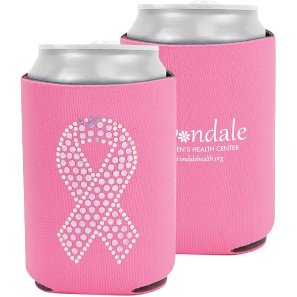 Pink Bling Can Cooler - Free Set Up Charges!