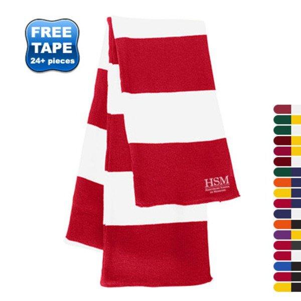 Sportsman® Rugby Striped Knit Scarf