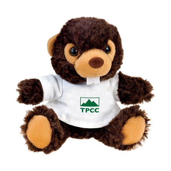 """Beaver Beasty Baby Plush, 6"""""""