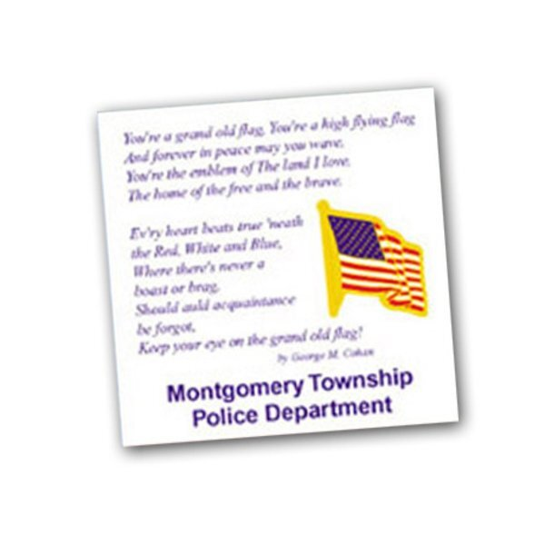 U.S. Flag Lapel Pin, Custom Card