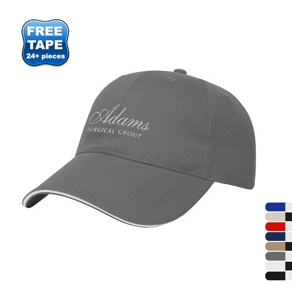 X-Tra Value Brushed Cotton Twill Constructed Sandwich Cap