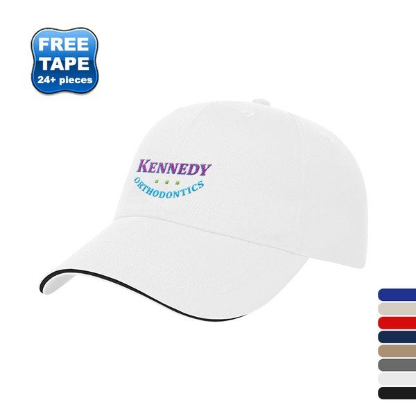 X-Tra Value Brushed Cotton Twill Unconstructed Sandwich Cap