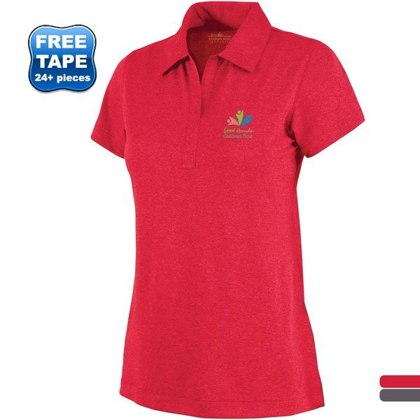 Charles River® Heathered Jersey Ladies' Performance Polo