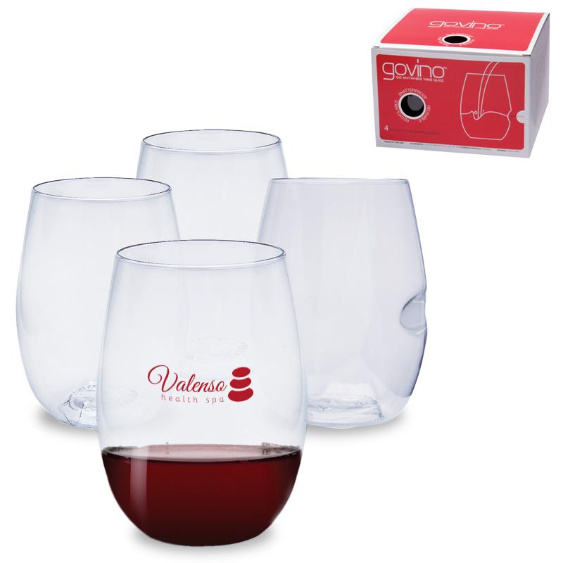 govino® Shatterproof Stemless Wine Glass 4 Pack, 16oz.