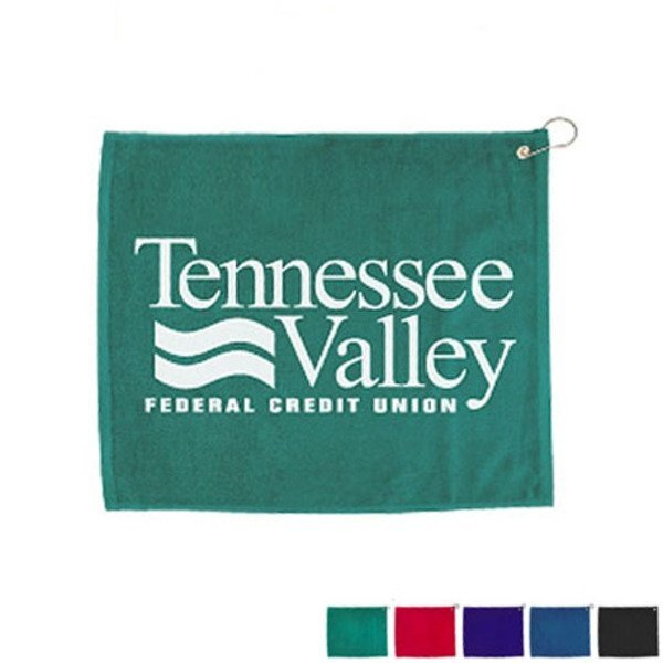 "Hemmed Velour Golf Towel, 15"" x 18"""